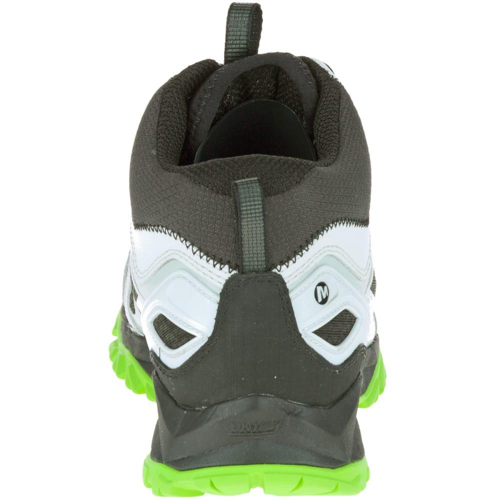 MERRELL Men's Capra Bolt Mid Waterproof Hiking Boots, Black/Silver - BLACK/SILVER