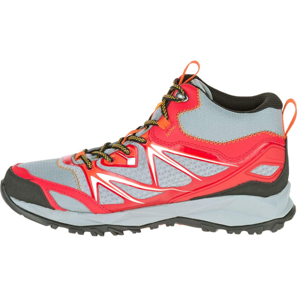 MERRELL Men's Capra Bolt Mid Waterproof Hiking Boots, Bright Red - BRIGHT RED
