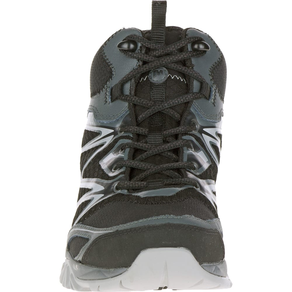 MERRELL Men's Capra Bolt Mid Waterproof Hiking Boots, Black - BLACK