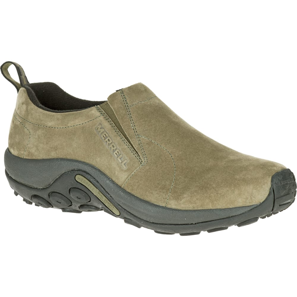 Merrell Men's Jungle Moc Shoes, Dusty Olive - Green, 9.5