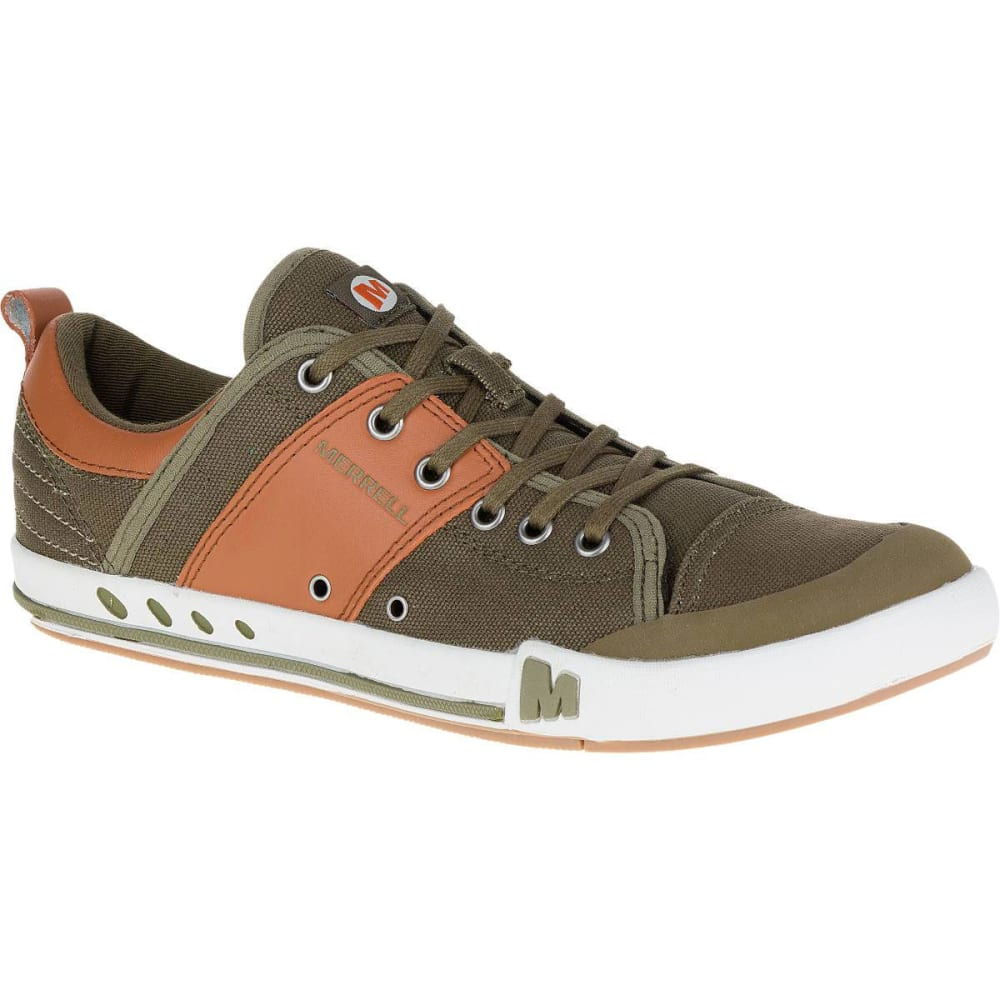 MERRELL Men's Rant Canvas Sneakers, Dark Olive - DARK OLIVE