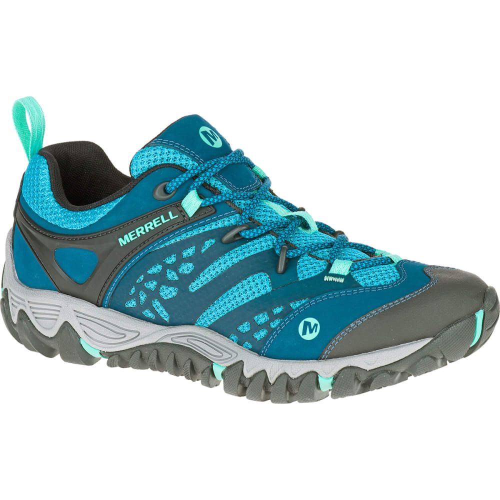 MERRELL Women's All Out Blaze Ventilator Hiking Shoes, Turquoise/Aqua - TURQUOISE/AQUA
