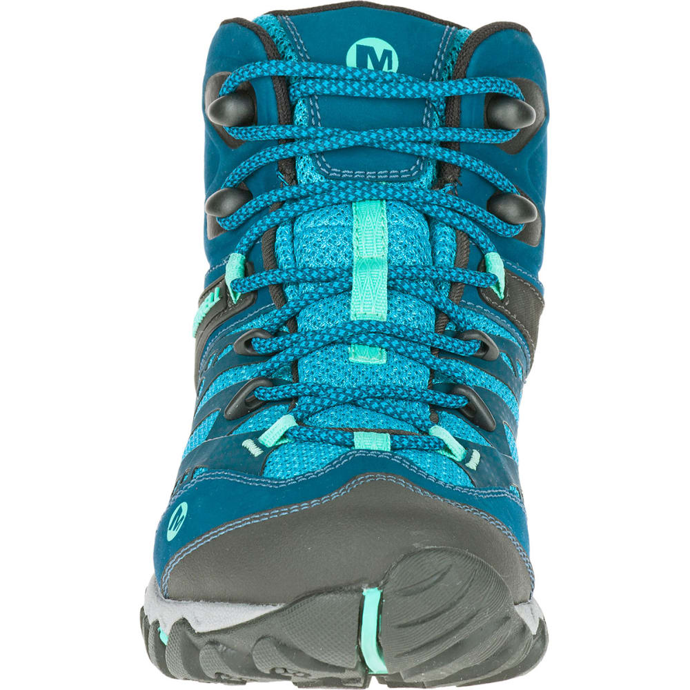 MERRELL Women's All Out Blaze Ventilator Mid Waterproof Hiking Boots, Brown - TURQUOISE/AQUA