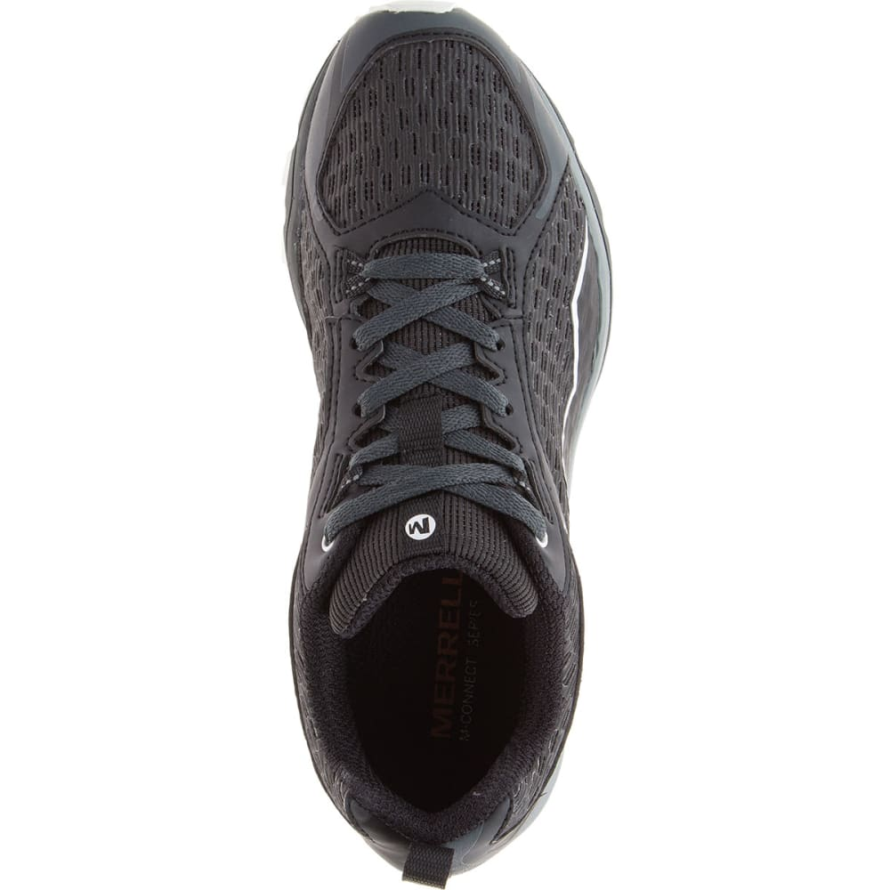 MERRELL Women's All Out Crush Trail Running Shoes, Black - BLACK