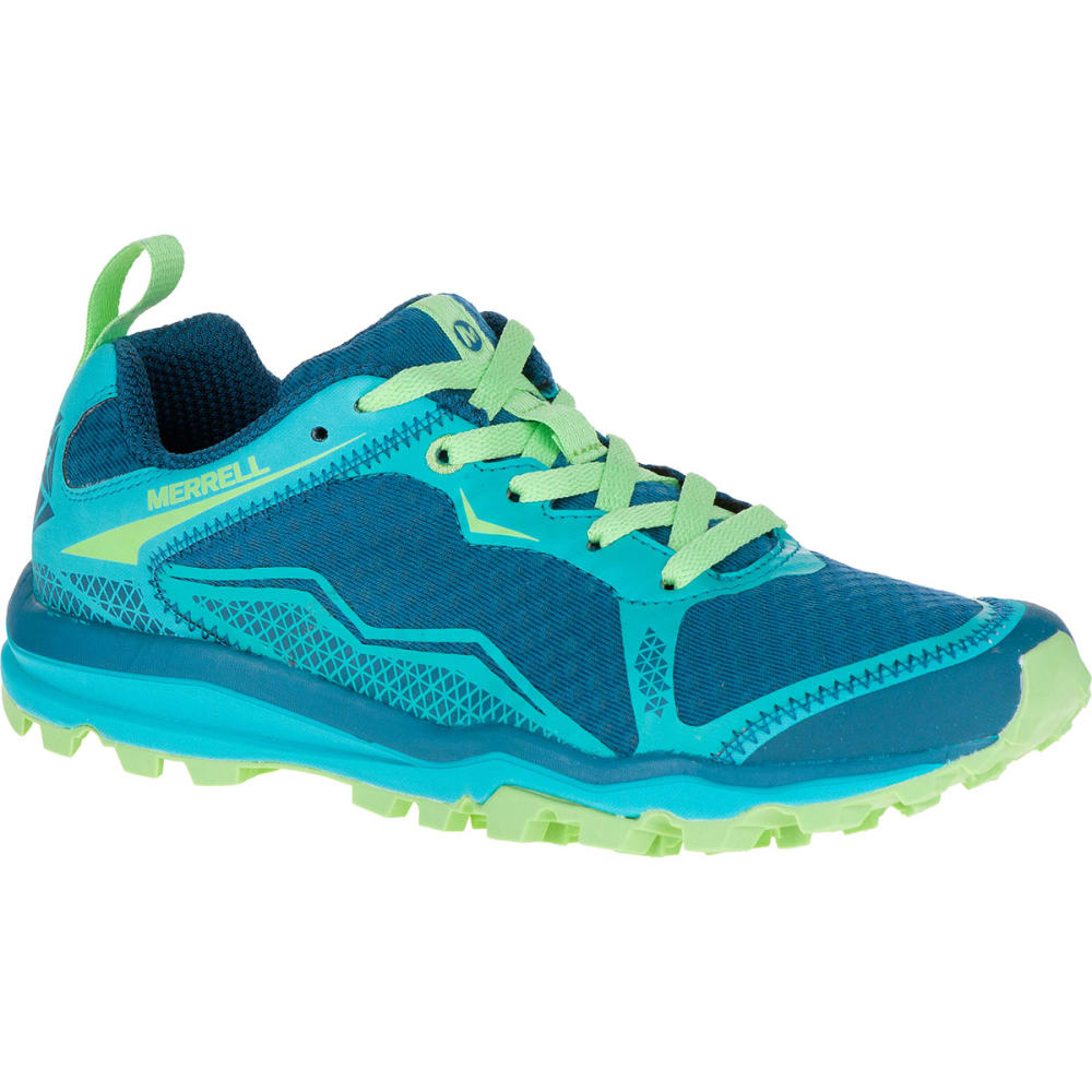 MERRELL Women's All Out Crush Light Trail Running Shoes, Bright Green - BRIGHT GREEN