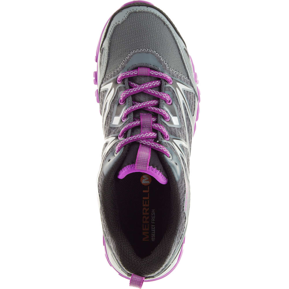 MERRELL Women's Capra Bolt Waterproof Trail Shoes, Grey/Purple - GREY/PURPLE