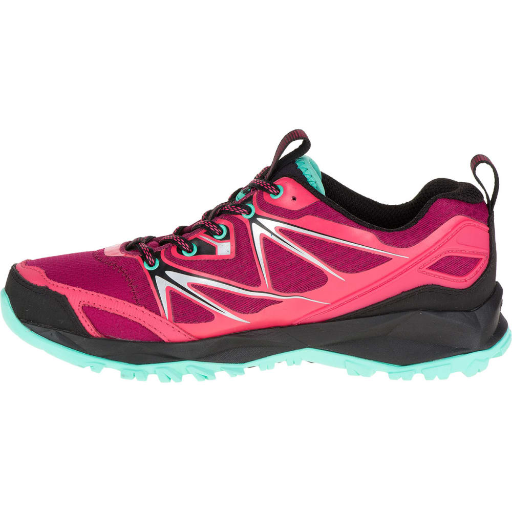 MERRELL Women's Capra Bolt Waterproof Trail Shoes, Bright Red - BRIGHT RED