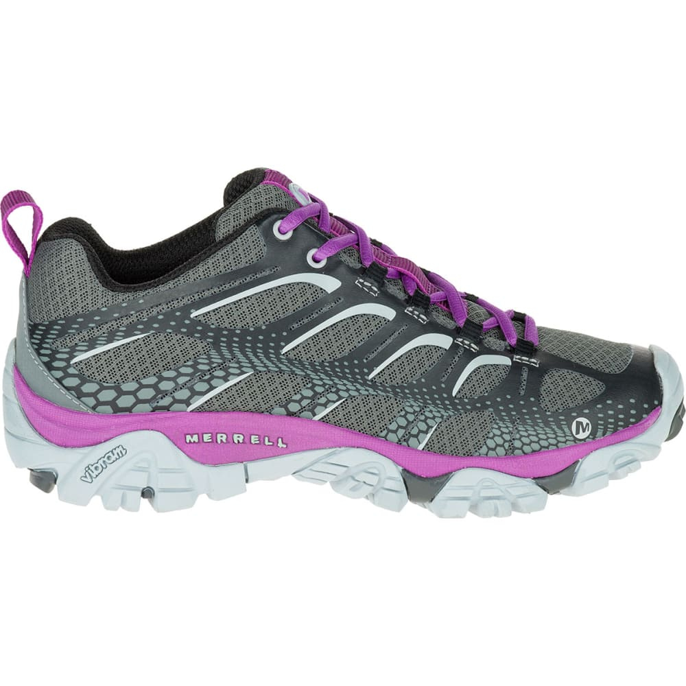 MERRELL Women's Moab Edge Shoes, Black/Purple - BLACK/PURPLE