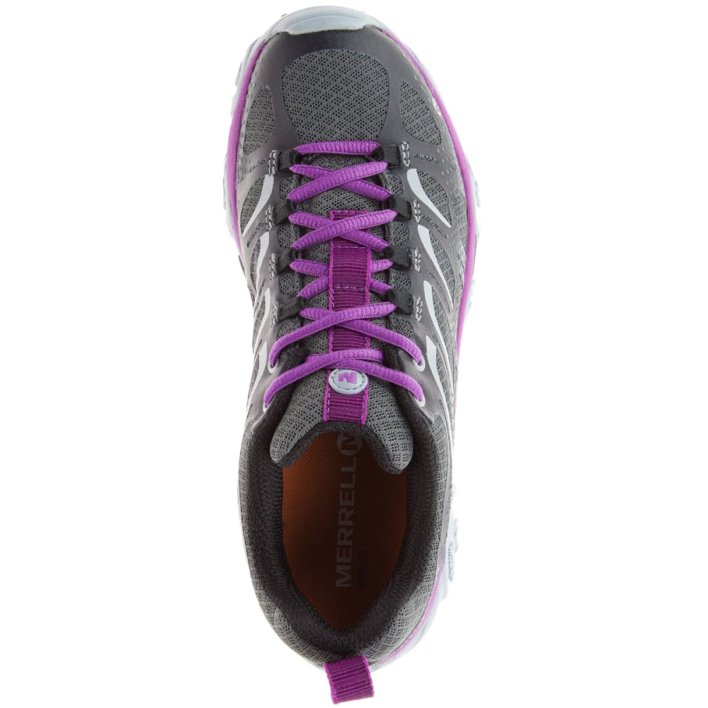 MERRELL Women's Moab Edge Shoes, Black/Purple - BLACK/PURPLE