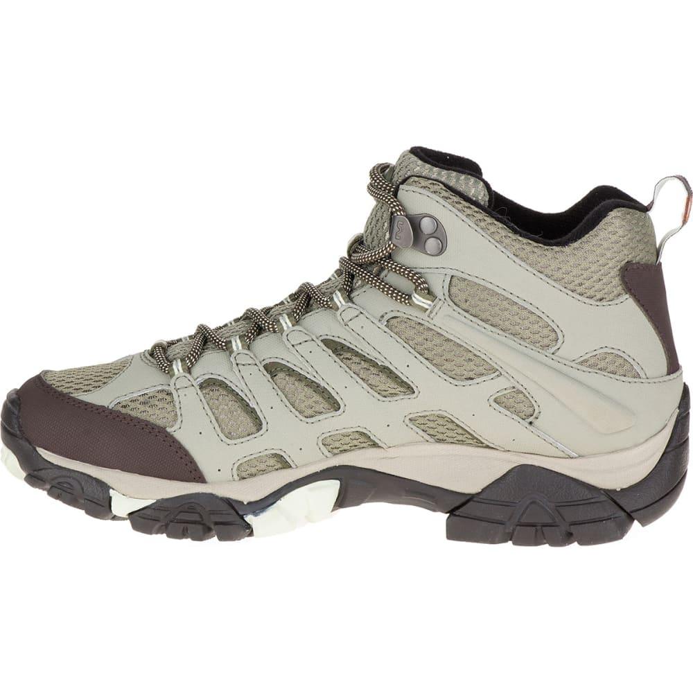 MERRELL Women's Moab Mid Waterproof Hiking Boots, Granite - GRANITE