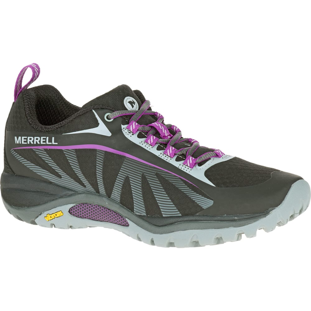 MERRELL Women's Siren Edge Hiking Shoes, Black/Purple 4