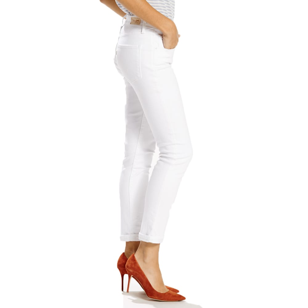 LEVI'S Women's Mid-Rise Skinny Crop Jeans - 0012-CLEAN WHITE