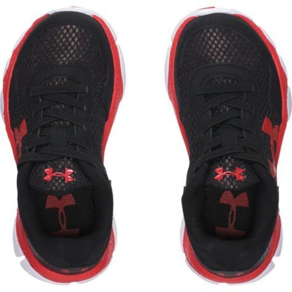 UNDER ARMOUR Boys' Engage 2 (11-3) Big Logo Running Shoes - BLACK