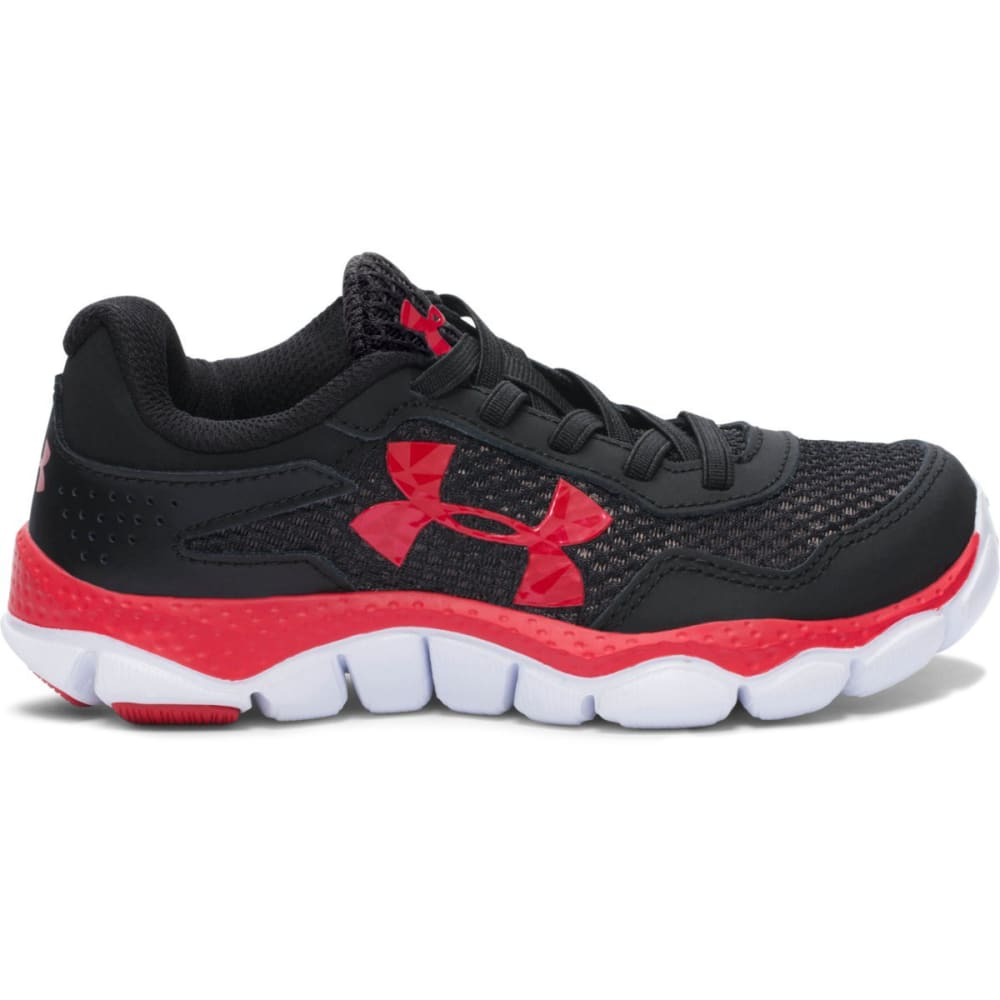 UNDER ARMOUR Boys' Engage 2 (11-3) Big Logo Running Shoes - BLACK