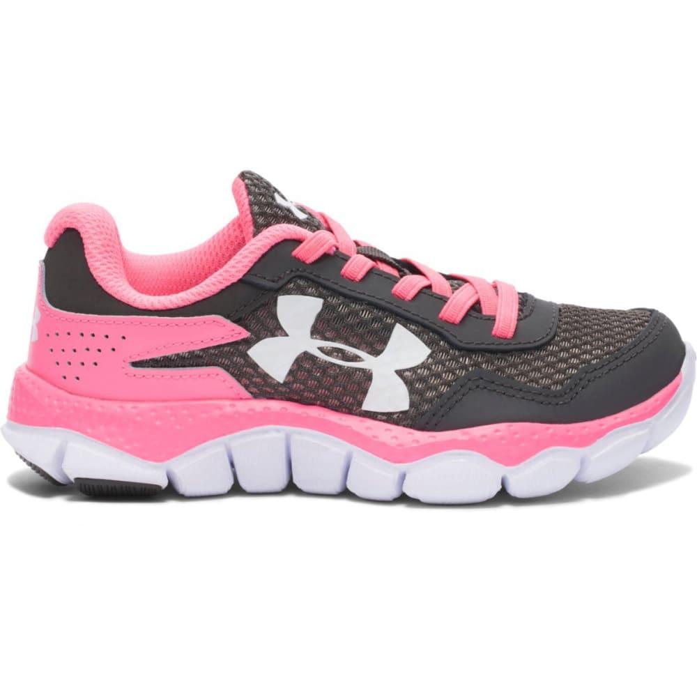UNDER ARMOUR Girls' Engage 2 Big Logo Running Shoes (11-3) - GREY