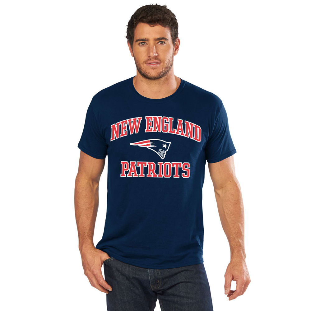 NEW ENGLAND PATRIOTS Men's Heart and Soul II Short-Sleeve Tee - NAVY
