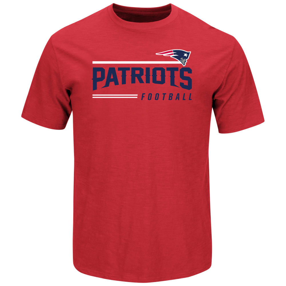 NEW ENGLAND PATRIOTS Men's Line Of Scrimmage Tee - RED