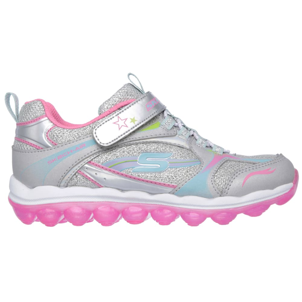 SKECHERS Girls' Skech Air - Bubble Beatz Shoes - SILVER