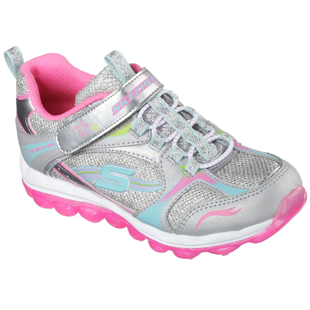 SKECHERS Girls' Skech Air - Bubble Beatz Shoes - SILVER
