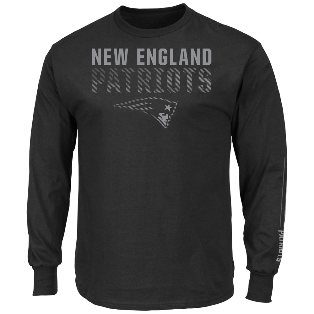 NEW ENGLAND PATRIOTS Men's Written Permission Long-Sleeve Tee - BLACK