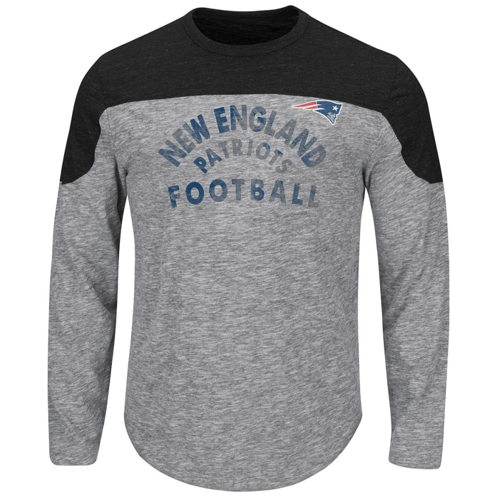 NEW ENGLAND PATRIOTS Men's Corner Blitz Long-Sleeve Tee - HEATHER GREY