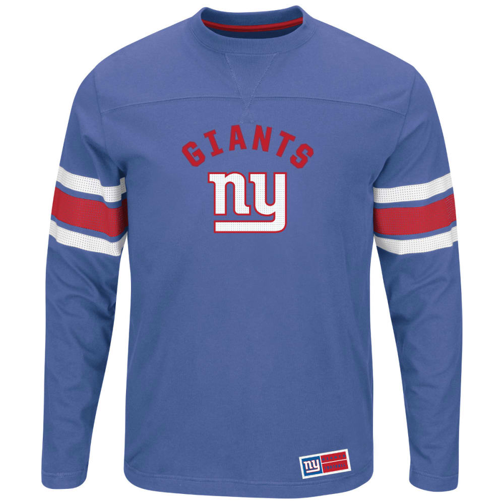 NEW YORK GIANTS Men's Power Hit Long-Sleeve Tee - ROYAL BLUE