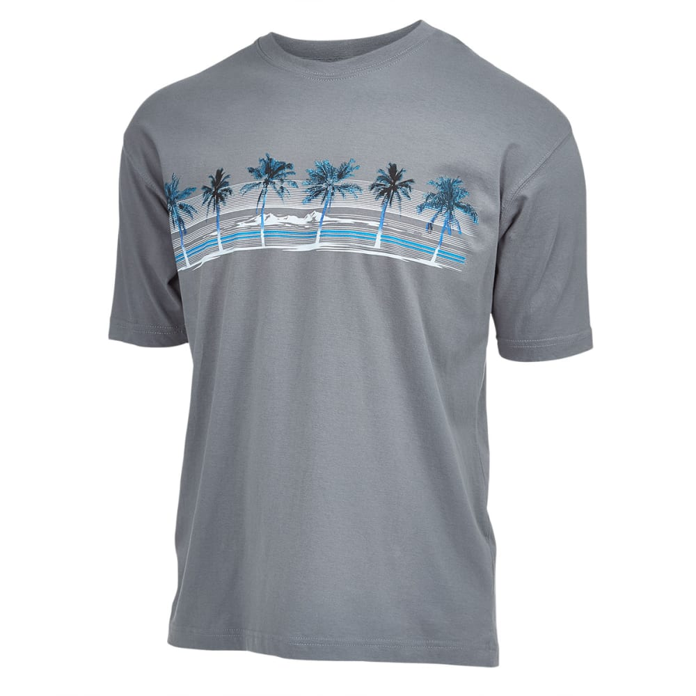 NEWPORT BLUE Men's Palm Island Screen Tee - SMOKE