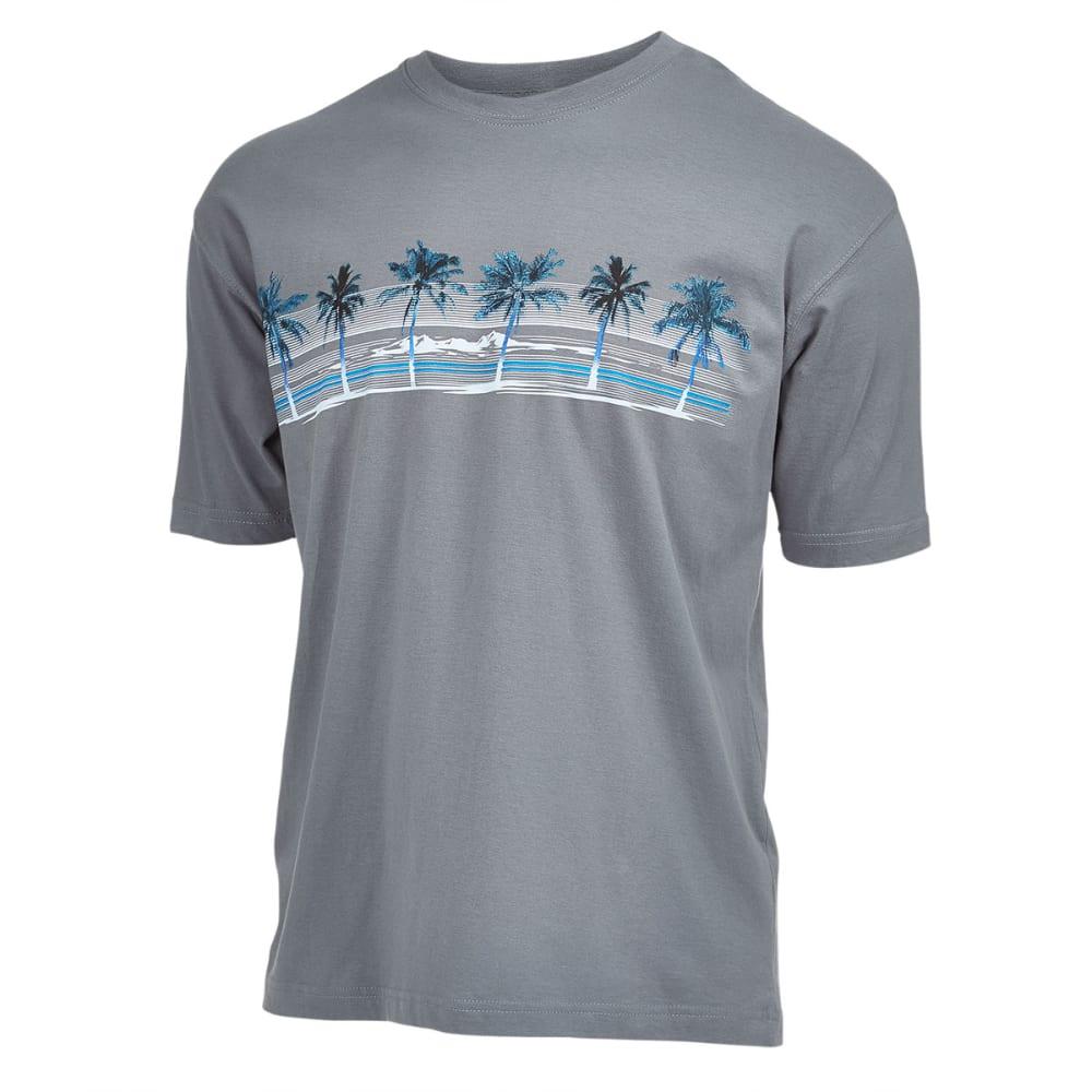 NEWPORT BLUE Men's Palm Island Screen Tee - SMOKE