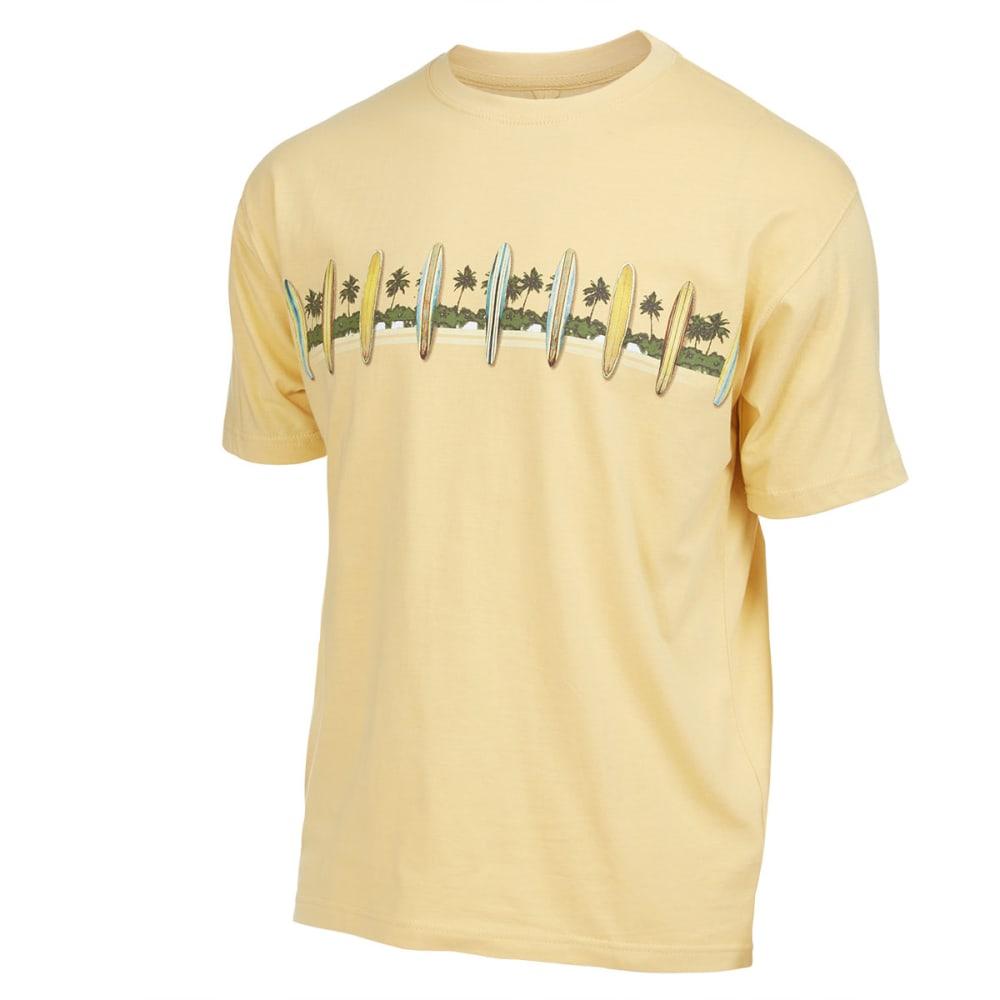NEWPORT BLUE Men's Tribal Surf Screen Tee - CURRY