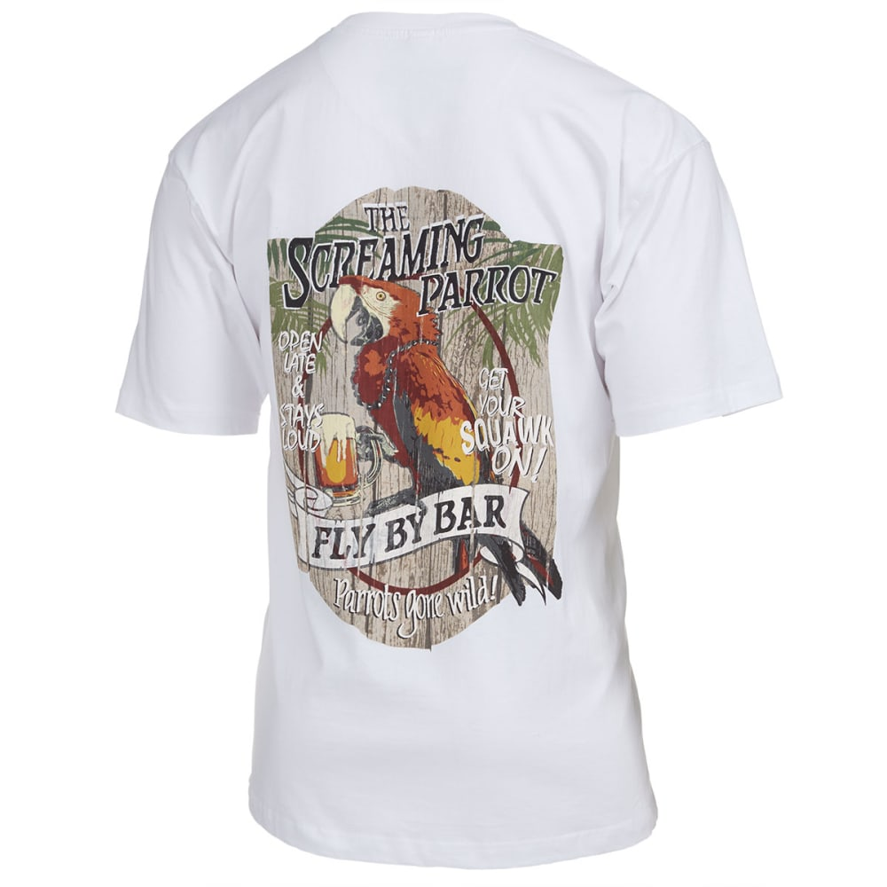 NEWPORT BLUE Men's Screaming Parrot Tee - WHITE