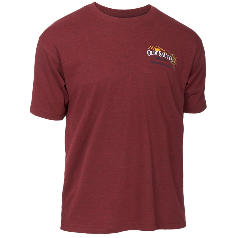 NEWPORT BLUE Men's Old Salty's Screen Tee - HEATHER RED