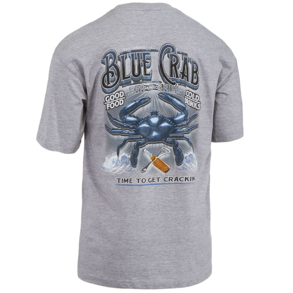 NEWPORT BLUE Men's Crab Bar Screen Printed Tee - LIGHT GREY