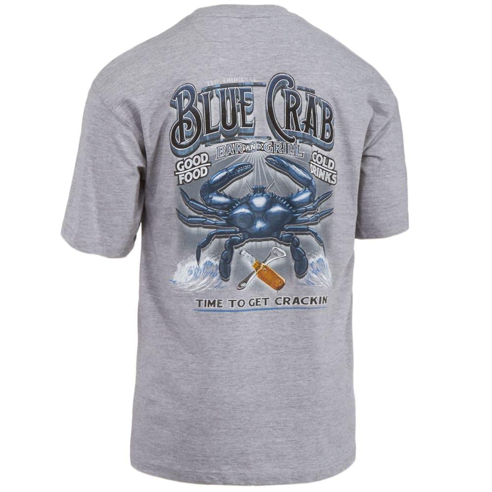 NEWPORT BLUE Men's Crab Bar Screen Printed Tee - LIGHT GREY