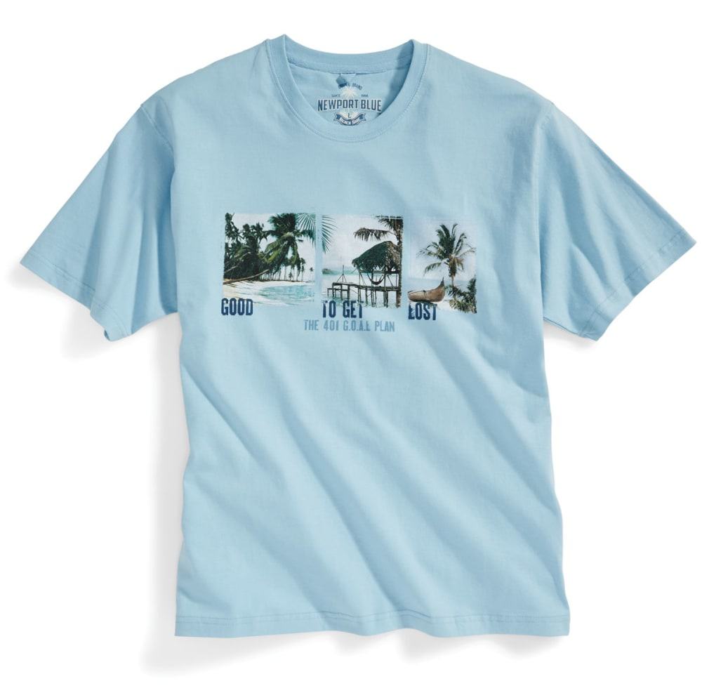NEWPORT BLUE Men's Good to Get Lost Short-Sleeve Screen Tee - GEYSER