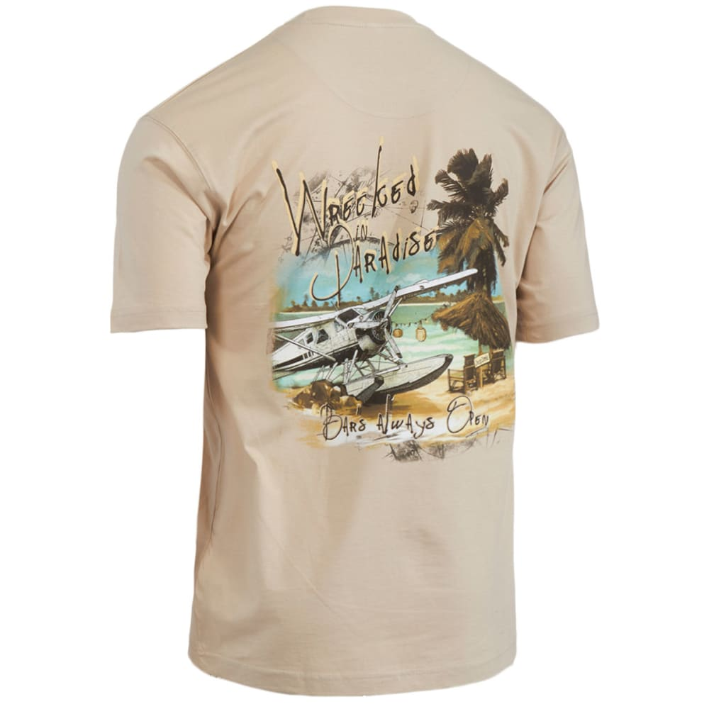NEWPORT BLUE Men's Wrecked In Paradise Tee - OATMEAL