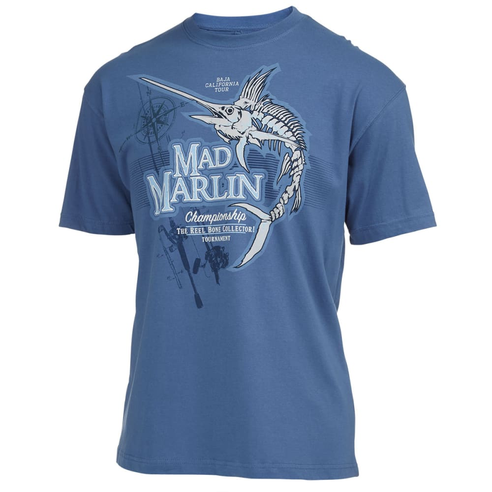 NEWPORT BLUE Men's Mad Marlin Screen Tee - CLEAR BLUE