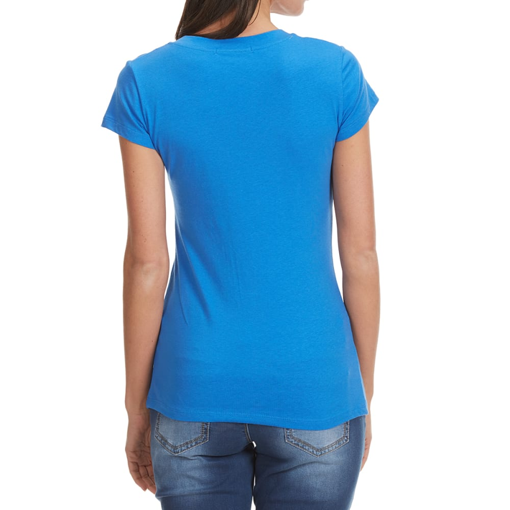 TRESICS Women's Femme Basic V-Neck Tee - DUSTY BLUE