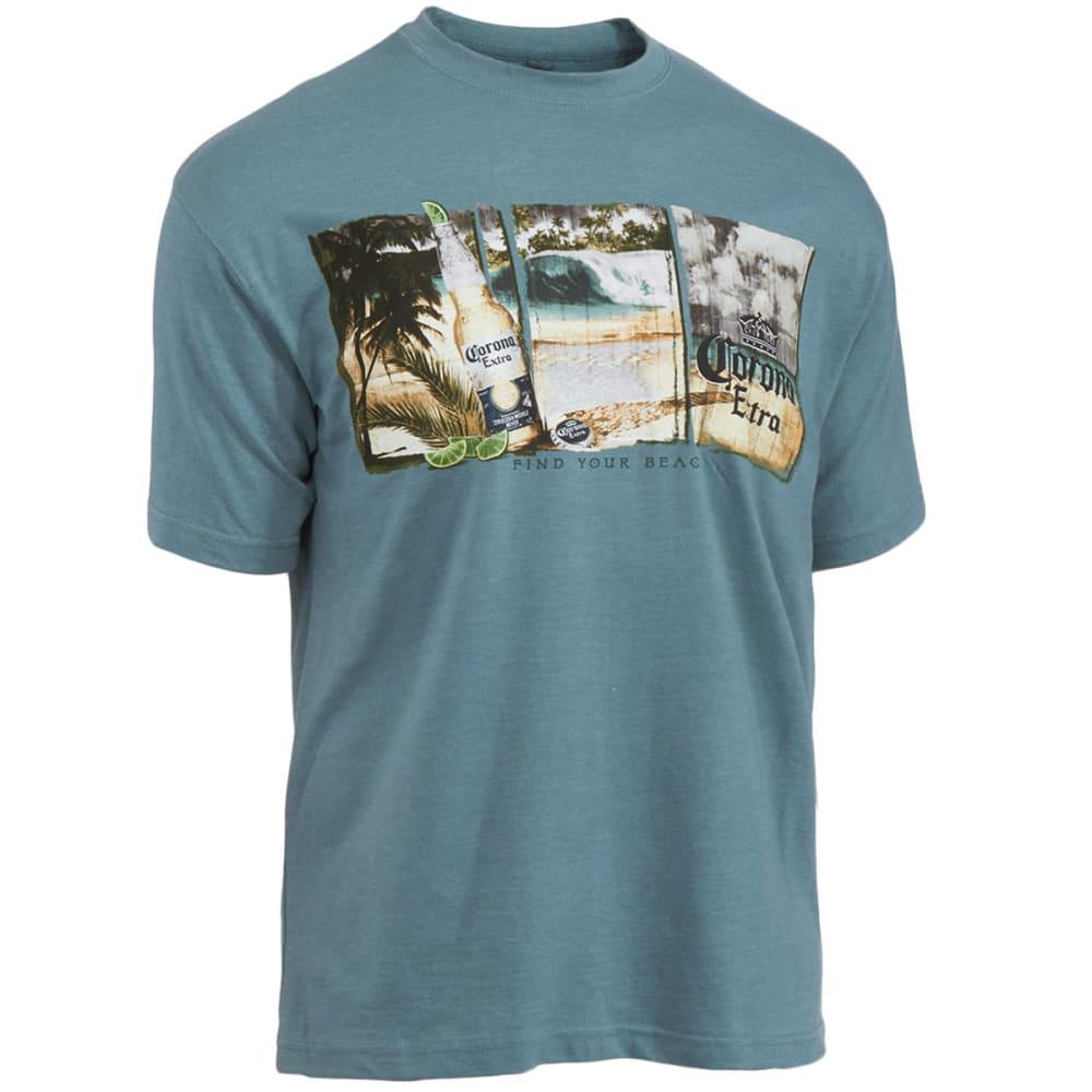 NEWPORT BLUE Men's Corona Beach Tee - HEATHER SPRUCE
