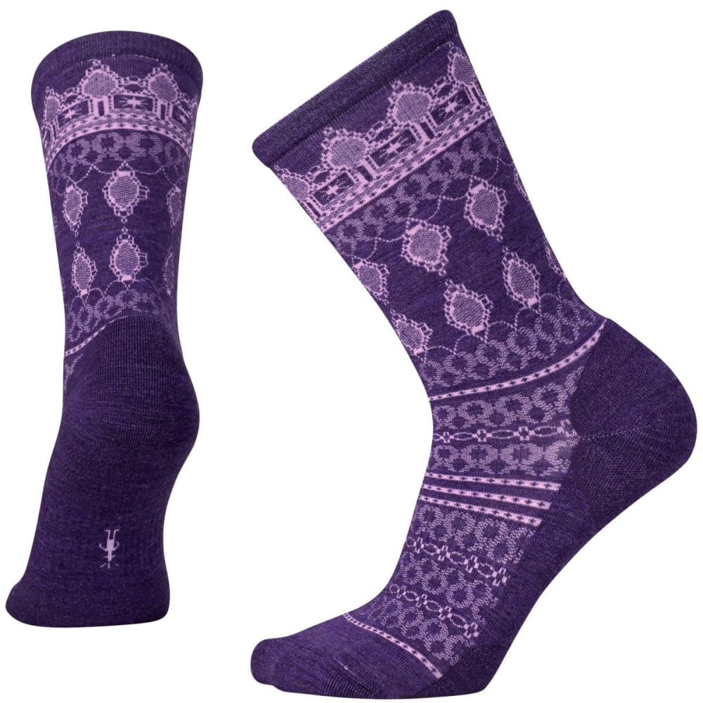 SMARTWOOL Women's Lacet Crewsocks - MT PRPLE HTHR-592
