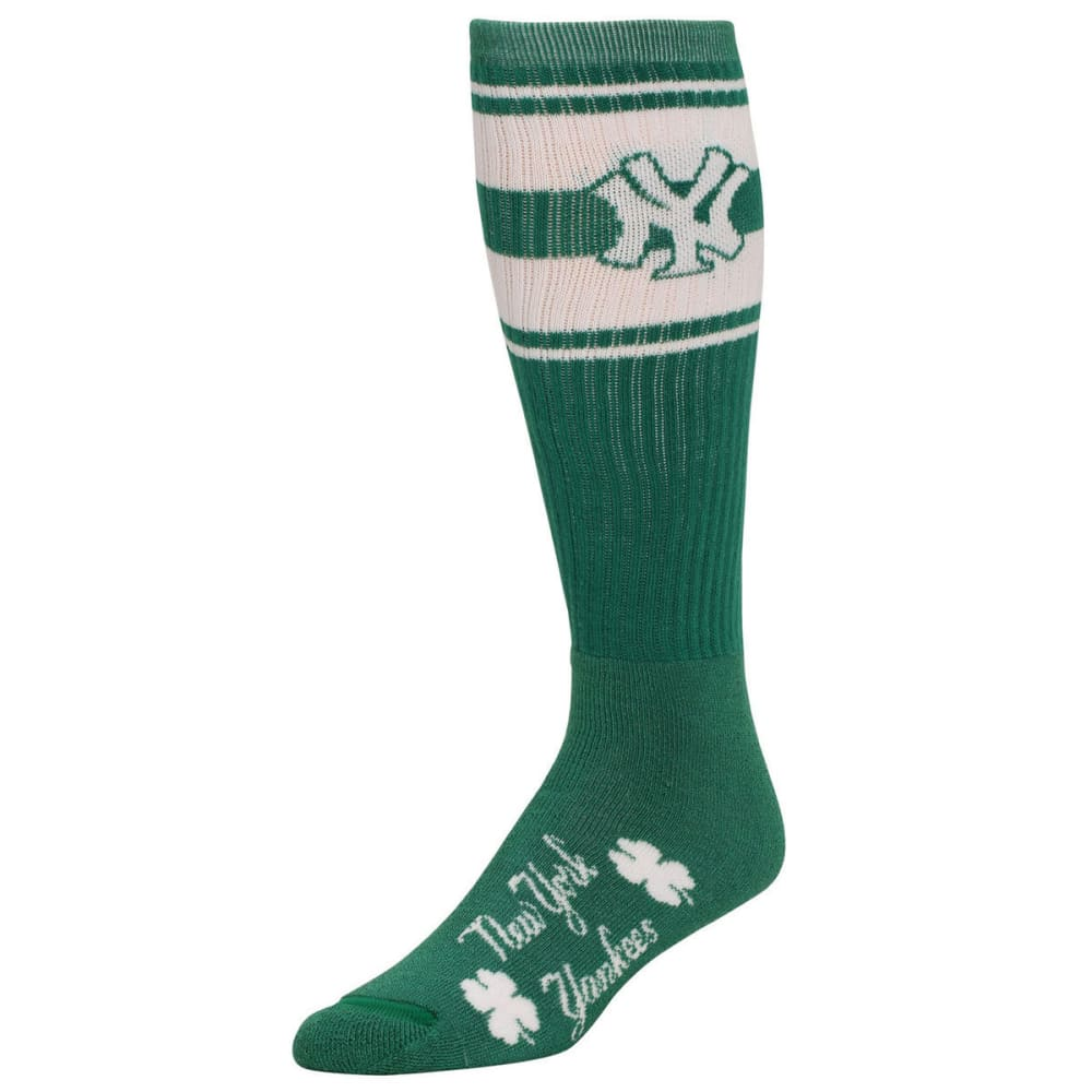 NEW YORK YANKEES Green Striped Socks - GREEN