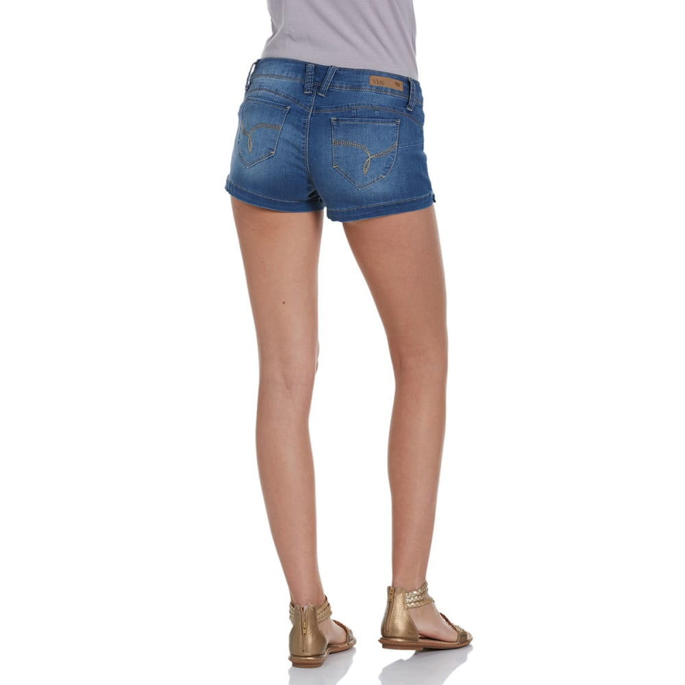 YMI Juniors' Wanna Betta Butt Jean Shorts - -M08 MEDIUM WASH