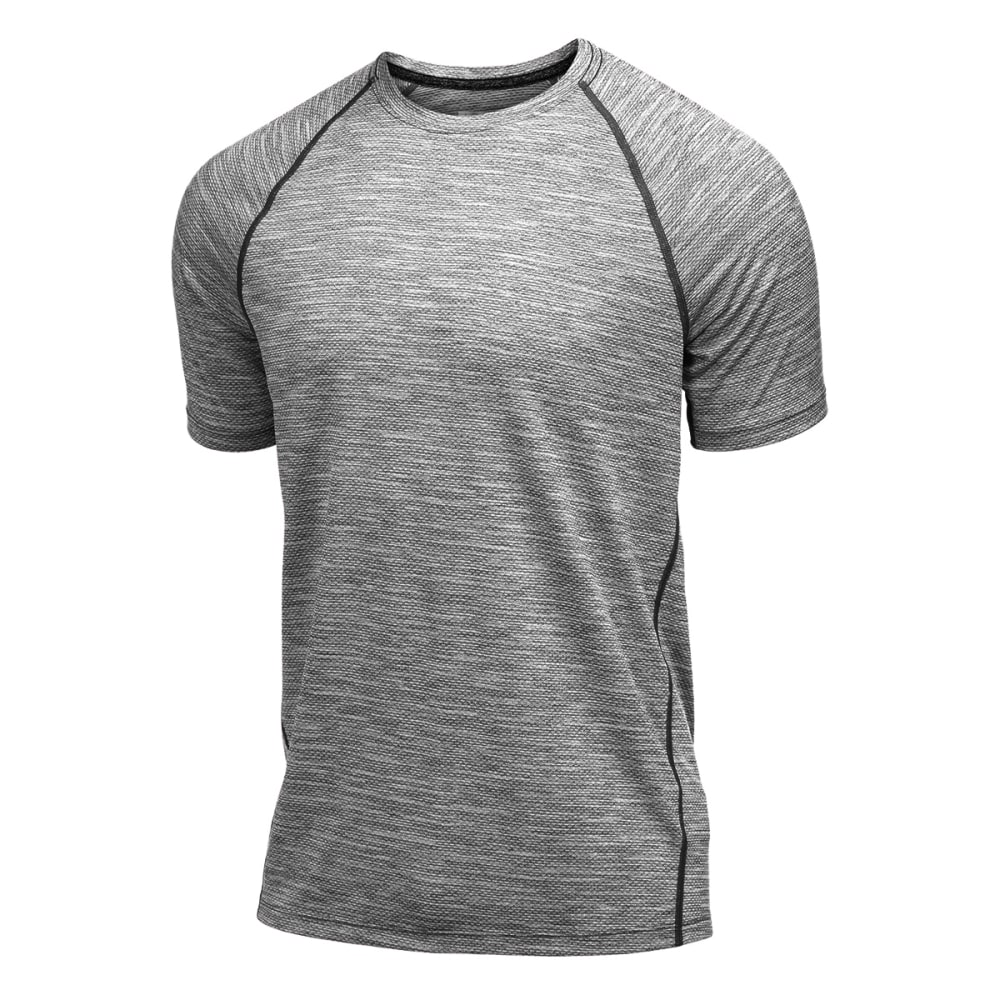 LAYER 8 Men's Chain Mesh Wicking Tee - GREYSTONE-GYT