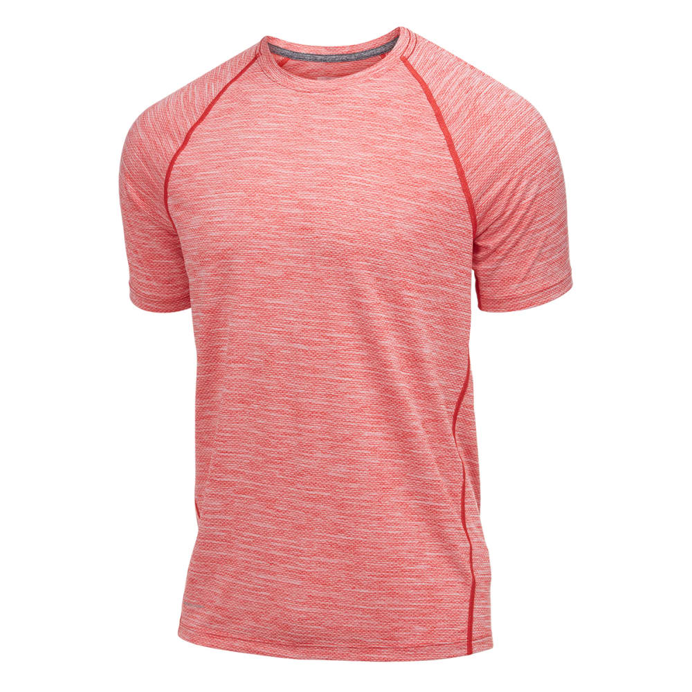 LAYER 8 Men's Chain Mesh Wicking Tee - CHINESE RED-CNR
