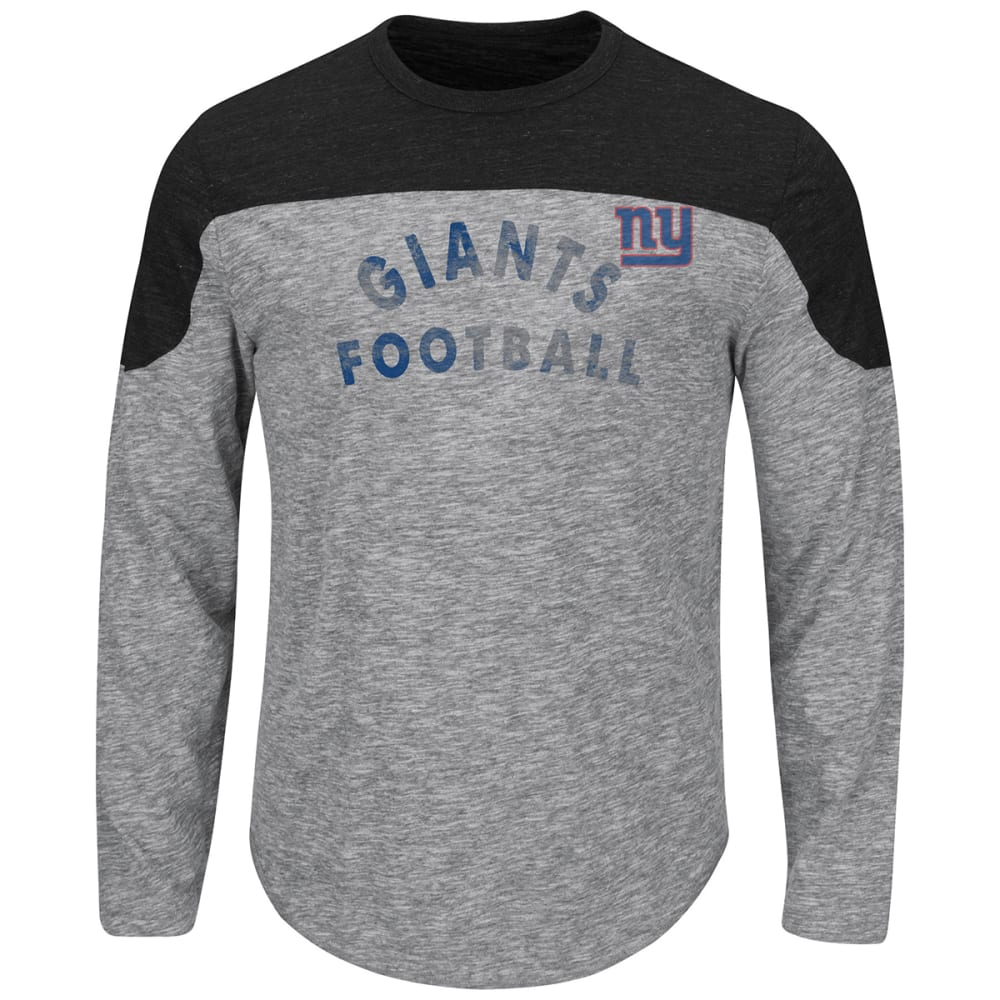 NEW YORK GIANTS Men's Corner Blitz Long-Sleeve Tee - NAVY