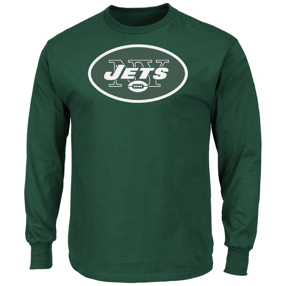 NEW YORK JETS Men's Critical Victory II Long Sleeve Tee - GREEN