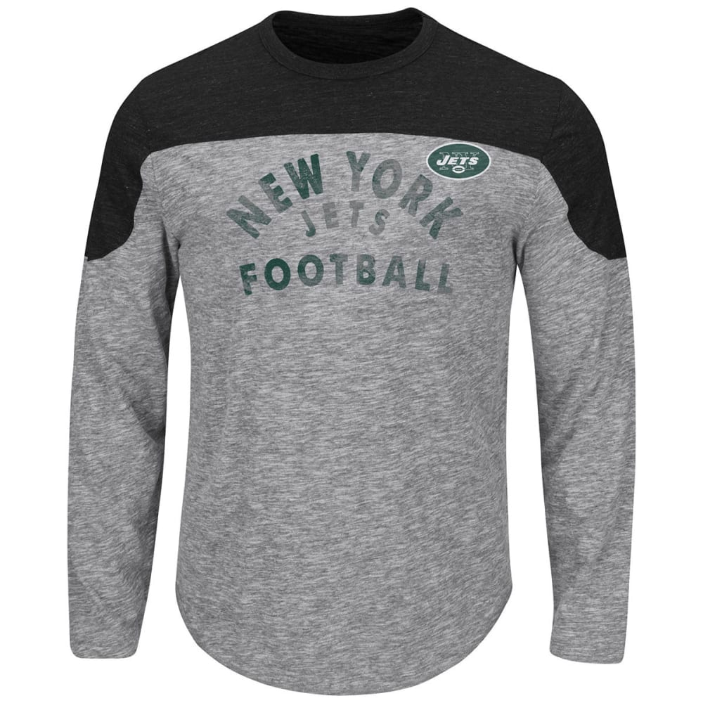 NEW YORK JETS Men's Corner Blitz Long-Sleeve Tee - HEATHER GREY
