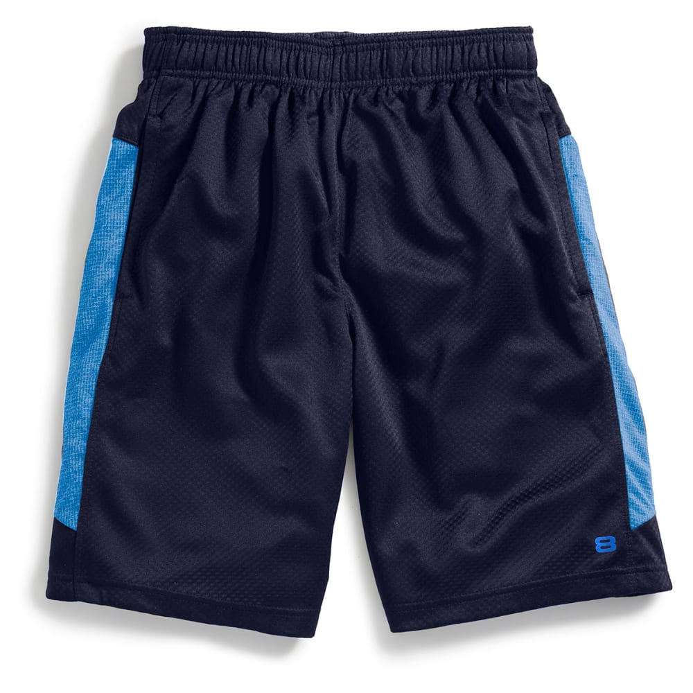 LAYER 8 Men's Bubble Mesh Knit Training Shorts - DARK NAVY/BLUE -DKN