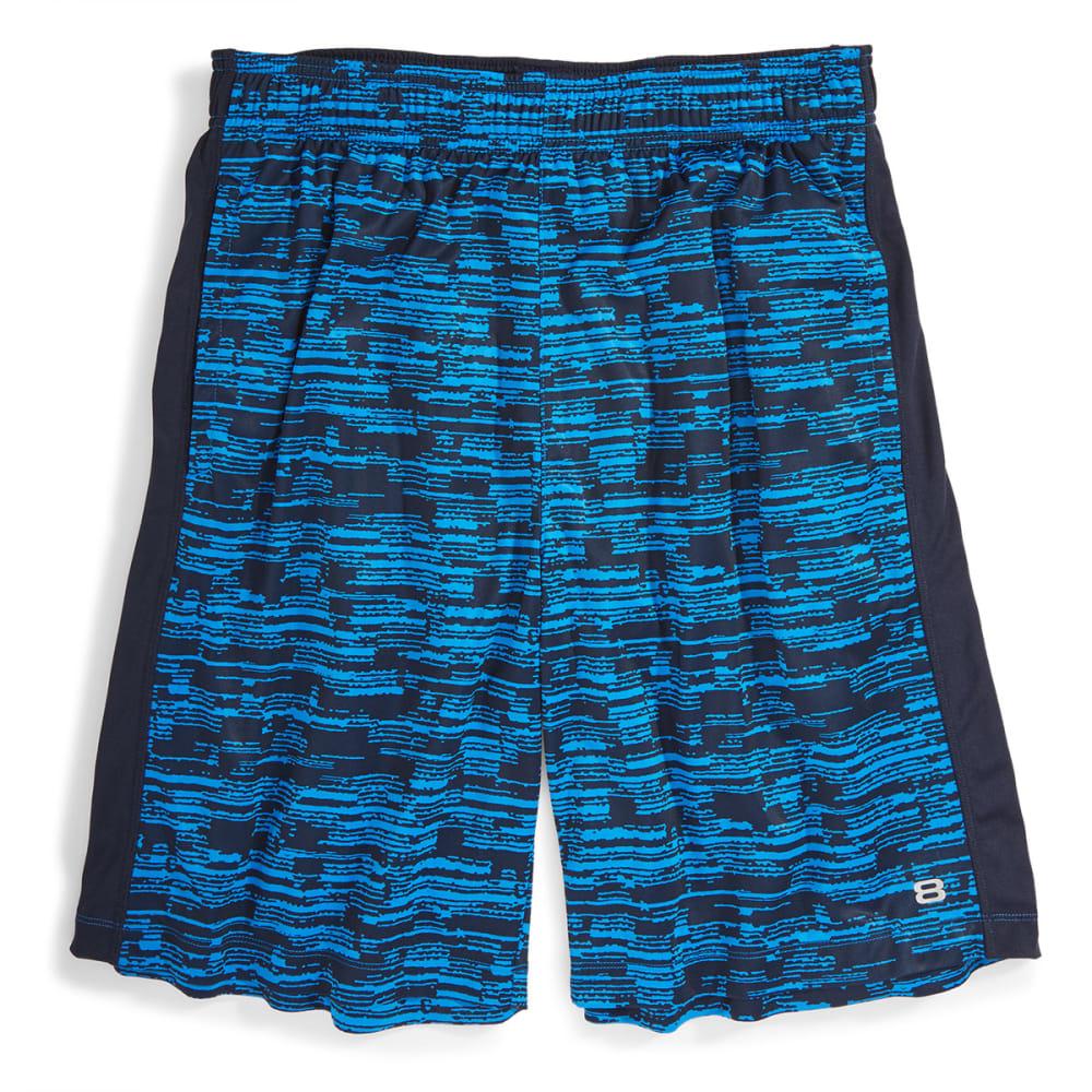 LAYER 8 Men's Printed Knit Training Shorts - BLUE PRINT/NAVY-BT+