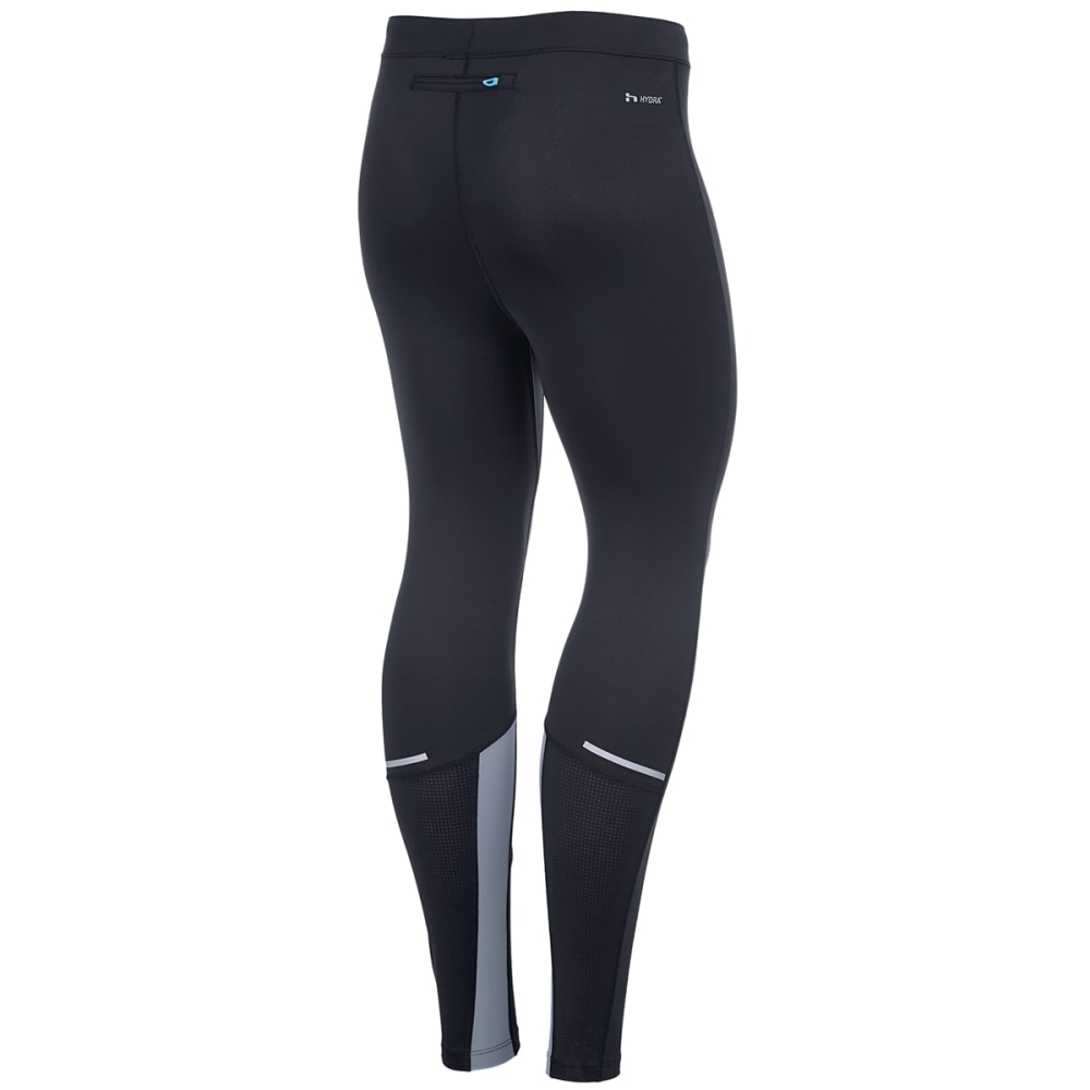 HIND Men's Stretch Running Tights - BLACK/STEALTH-BSH