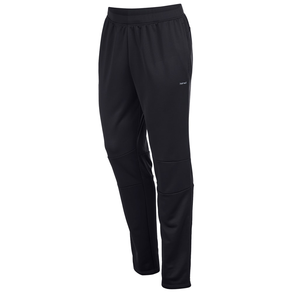 HIND Men's Slim Fit Running Pants - BLACK-BLA